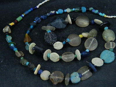 Ancient Glass Beads Strand Roman 200 BC   #BE2136