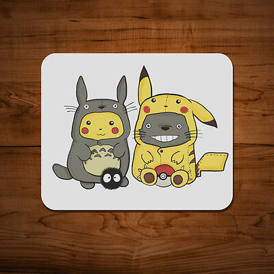 Pikachu and Totoro Mouse Mat PC Anime Studio Ghibli Pokemon Go Ash 5mm Pad
