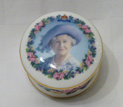 TRINKET DISH TO CELEBRATE THE 100th BIRTHDAY OF THE QUEEN MOTHER -