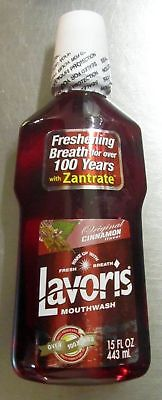 Lavoris Mouthwash With Zantrate Original Cinnamon Flavor - 15 Ounce (Pack of 12)