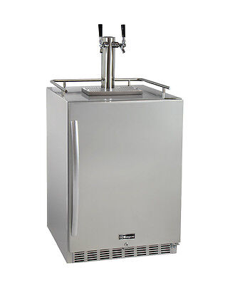 Kegco HK38SSU-2 2-Tap Outdoor Built-In Kegerator w/Premium Dispense Kit