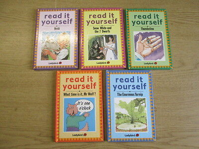 5 Ladybird Read It Yourself Books What Time Is It, Mr Wolf? - Level 1 / The Enor
