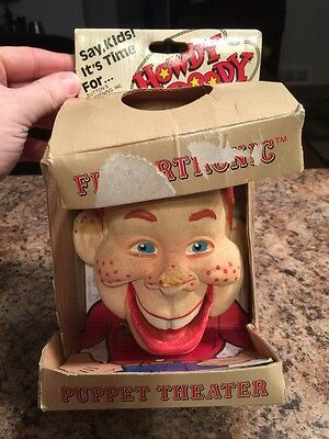 Howdy Doody Vintage Fingertronic Bendy Puppet Some Damage In Original Box 1987