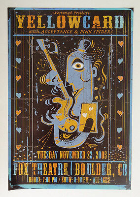 YELLOWCARD Original Concert Poster 2005 Fox Theatre Darren Grealish