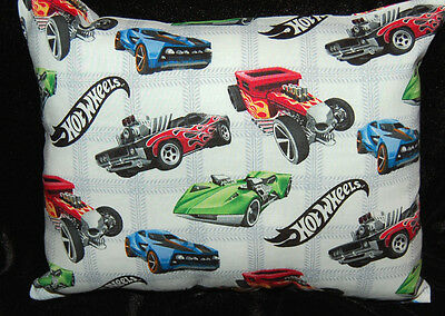 New Handmade Mini Hot Wheels Cars White Toddler/cuddle/car /bed  Pillow