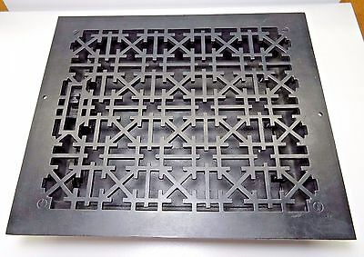 "Vintage Decorative 100% Cast Iron Floor or Wall Register Vent 13 7/8"" x 11 7/8"""