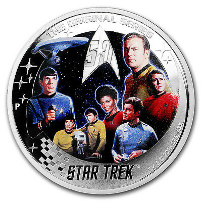 2016 Tuvalu 2 oz Silver Proof Star Trek: Enterprise Crew - SKU #105231