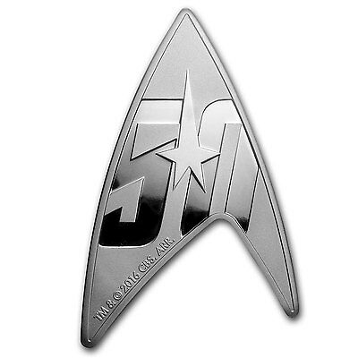 2016 Tuvalu 1 oz Silver Star Trek: Delta Shaped Coin - SKU #103892