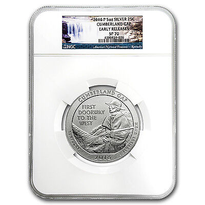 2016-P 5 oz Silver ATB Cumberland Gap SP-70 NGC (Early Release) - SKU #104585