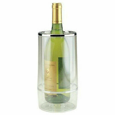 Transparent Wine Cooler Double Wall Acrylic Bottle/Drink Cool Champagne/Ice