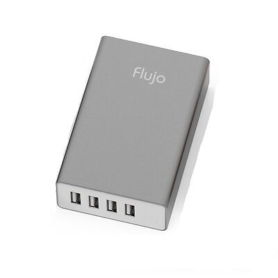 Flujo 4 Port USB Smart Charger (Grey) PW-1-A