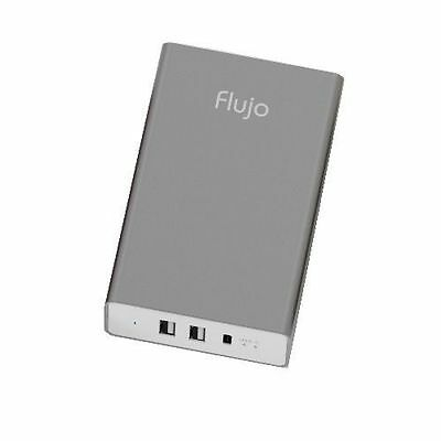 Flujo 3 Port 2x Type A & 1x USB Type-C Smart Charger (Grey) PW-1C-A