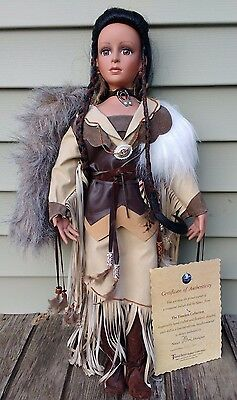 """Timeless Collection Spirit of Rabbit Hunter Native American Style Doll  30"""""""