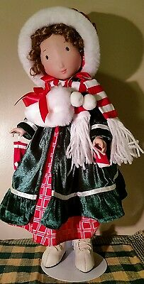 """""""Holiday Holly Hobbie"""" GIFT Christmas Marie Osmond 16"""" Doll Holiday Decoration"""