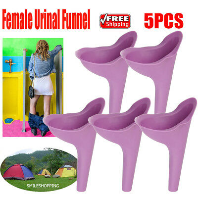 5pcs Women Portable Camping Toilet Aid Urine Urinal Funnel Urination Device USA
