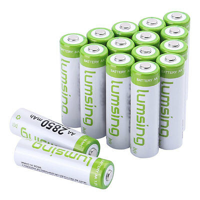 16 X Rechargeable AA Battery 1.2V 2850mAh Ni-MH Multipurpose Batteries w/ Case