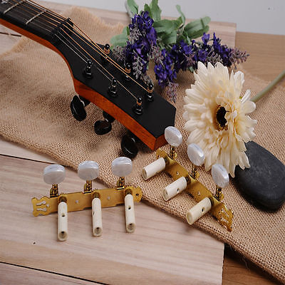 1R1L Gold Acoustic Guitar Tuning Pegs Single Machine Heads Tuners Keys String AU