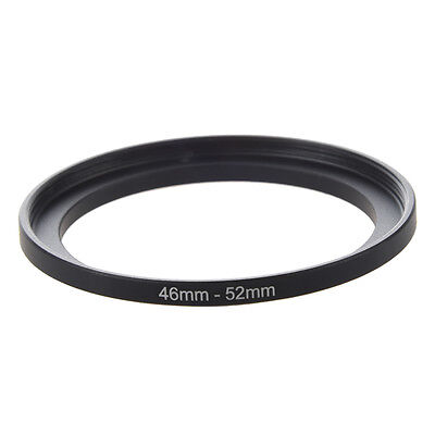 07S8 Camera Repairing 46mm to 52mm Metal Step Up Filter Ring Adapter