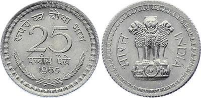 COIN India 25 Paise 1965 KM# 48 UNC