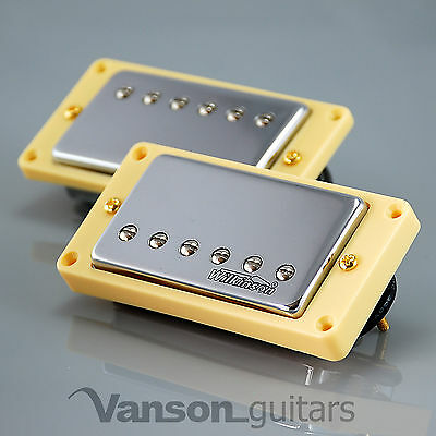 NEW Wilkinson 'HOT' CHROME Humbucker Pickup SET for Gibson, Epiphone ®* MWCHB IV