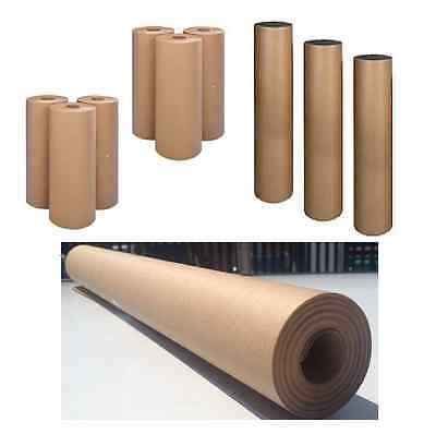 Rolls of Brown Kraft WRAPPING PAPER for Packing Post Parcels Strong Heavy Duty