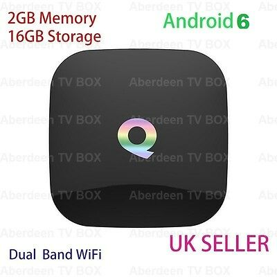 QBOX 2GB/16GB Amlogic S905X Android 6 Smart TV BOX Dual WIFI 'Fully loaded'