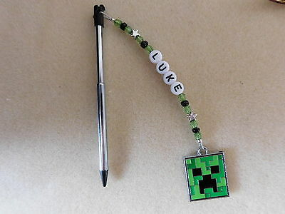 Personalised 3DS Stylus Pen with charm Minecraft Creeper