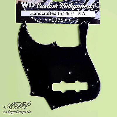 PICKGUARD JAZZ-BASS GAUCHER 3ply Black J-Bass Vintage 20fret 70's-80's Lefty WD