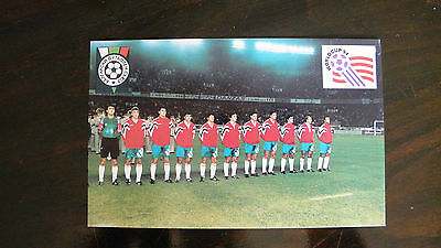 Card Bulgaria 1993 team photo football soccer before match in France World Cup