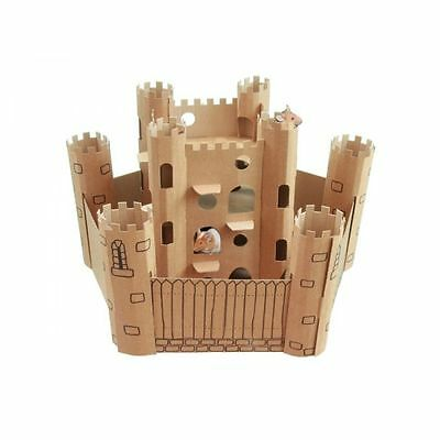 SmartKitz Cardboard Pet Castle for Hamsters & Rodents Small 23 x 23 x32 cm