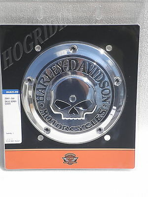 Harley twin cam willie g skull derby cover dyna softail touring fatboy heritage