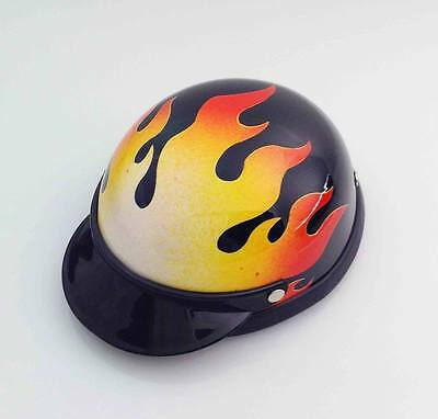 Dog's Helmet-Biker-Costume-FLAME-For Small Pets Btw 5-10 lbs Ship From USA-NY
