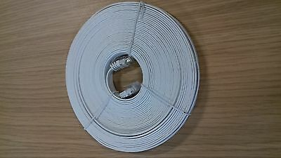 79 x Flat CAT5e UTP Ethernet Cable 20m Patch Lead White x