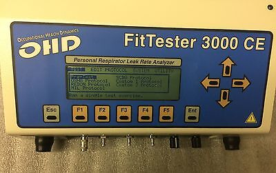 OHD FitTester 3000 Personal Respirator Mask Leak Rate Analyzer With Accessories