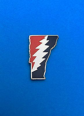 Vermont VT Grateful Dead Pin...panic phish cheese company twiddle jrad co moe