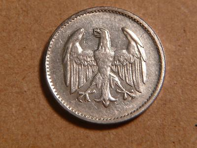 Germany 1924 F, 1 Mark, Silver, XF+ Condition...SKU#9451