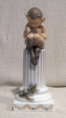 Royal Copenhagen Pan Satyr Faun with Lizard Figurine # 433