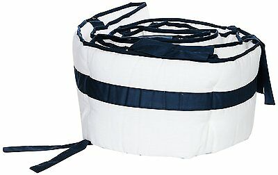 Pre-owned Baby Doll Bedding Modern Hotel Style Crib Bumper, Navy