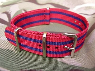 Royal Engineers (RE) Army Stable Belt/TRF Colours G10 NATO Military Watch Strap