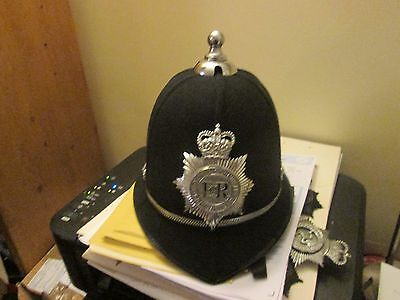 6 Panal Ball Top Bobby Helmet With Obsolete Devon And Cornwall  Badge