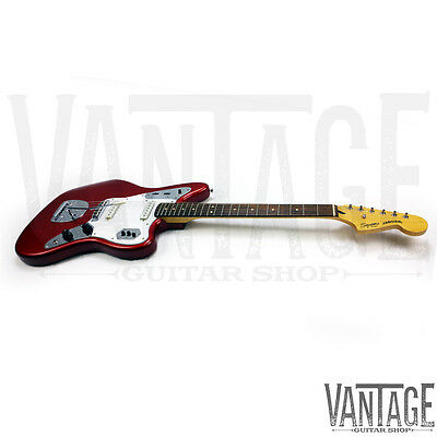 New - Squier by Fender Vintage Modified Jaguar Electric Guitar - Candy Apple Red