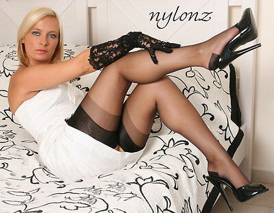 Eleganti RHT Stockings / Nylons - BLACK  imperfects -All Sizes