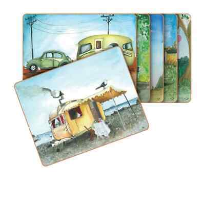 NEW Cinnamon Vintage Caravan Placemats Set of 6 (RRP $40)