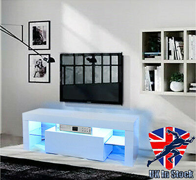 Modern LED TV Unit Cabinet Stand Matt body and High Gloss fronts Free LED RGB!