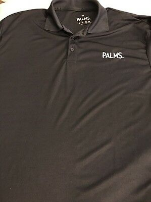 Palms Casino Las Vegas Black Polo Shirt XX-Large EUC