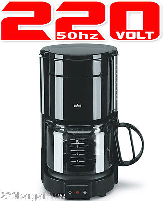 Braun KF47 Aromaster Classic 220 Volt 10 Cup Coffee Maker 220v (NON-USA)