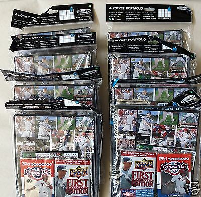 Lot of 8: 2007 Ultra Pro 4 Pocket Portfolios with Topps and Upper Deck Packs