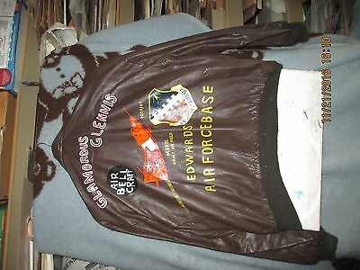Wwii  Painted A-2 Bell X-1 Edwards Air Force Base  Size 46 R Flight Jacket