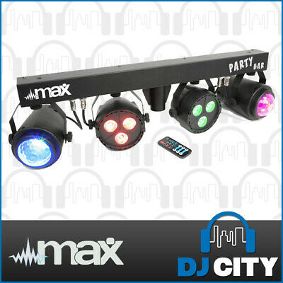 MAX PartBar LED DJ Lighting Bar Effect RGB Parcan Moonflower w/ Remote