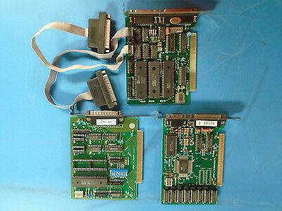 ISA I/O Cards Various Configurations Mixed Lot of 3